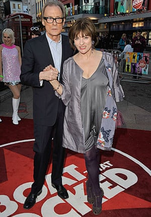 The Boat That Rocked: Bill Nighy with Diana Quick at the world premiere of The Boat That Rocked