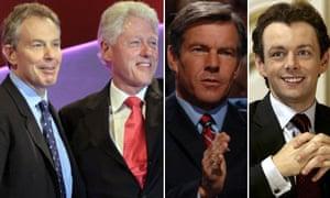 Tony Blair, Bill Clinton, Dennis Quaid and Michael Sheen