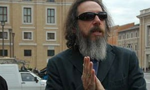 Larry Charles (right) with Bill Maher at the Vatican to shoot Religulous