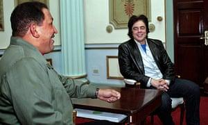 Hugo Chávez and Benicio Del Toro
