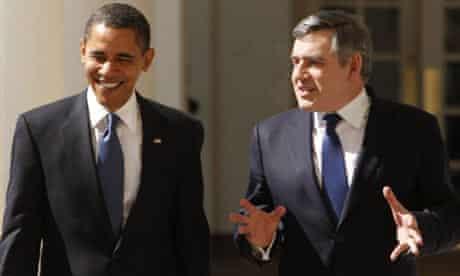 Gordon Brown and Barack Obama