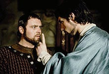 Anthony Hopkins and Timothy Dalton in The Lion in Winter (1968)