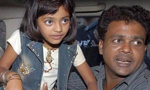 Slumdog Millionaire child star Rubina Ali and her father Rafiq Qureshi