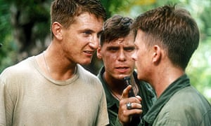Sean Penn, Don Harvey and Michael J Fox in Casualties of War (1989)