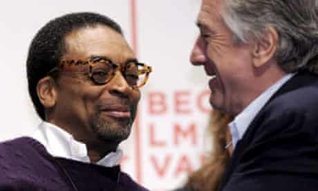 Spike Lee and Robert De Niro at the launch of the Tribeca film festival 2009