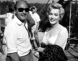 Jack Cardiff and Marilyn Monroe