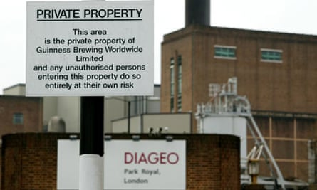 The Diageo plant in Park Royal