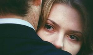 Bill Murray and Scarlett Johansson in final scene from Lost in Translation