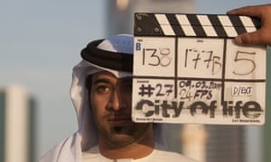 Filming on City of Life, directed by Ali Faisal Mostafa bin Abdullatif