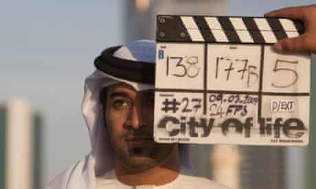 Filming on City of Life, directed by Ali Faisal Mostafa bin Abdullatif