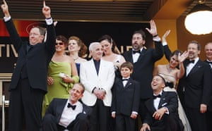 Cannes 2009: Up premiere: Some of the cast and crew of Pixar's Up at the Cannes film festival