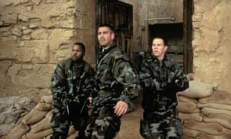 Ice Cube, George Clooney and Mark Wahlberg in Three Kings
