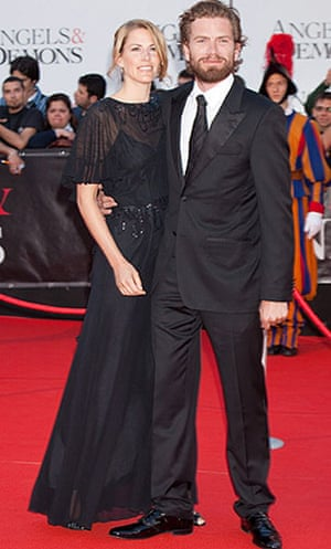 Angels & Demons premiere: Nikolaj Lie Kaas and wife Anne Lindeberg at the premiere of Angels & Demons