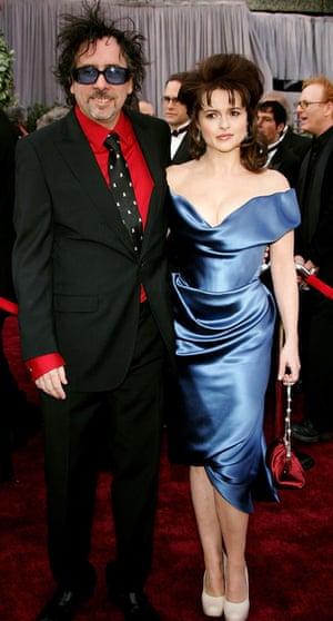 Tim Burton and Helena Bonham Carter at the 2006 Oscars