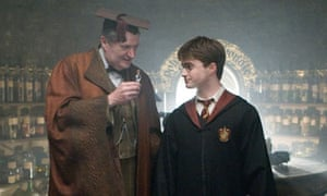 Jim Broadbent and Daniel Radcliffe in Harry Potter and The Half-Blood Prince