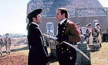 Mel Gibson and Jason Isaacs in The Patriot (2000)