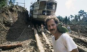 Werner Herzog on the set of Fitzcarraldo