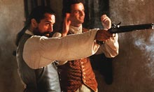 Robert De Niro and Aidan Quinn in The Mission (1986)