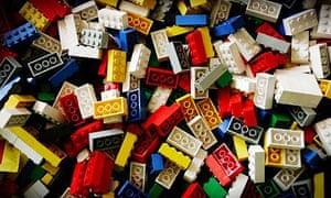 Lego bricks at the Lego factory in Billund Denmark