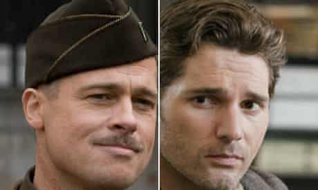 Brad Pitt in Inglourious Basterds and Eric Bana in The Time Traveler's Wife