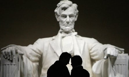 The Abraham Lincoln memorial in Washington