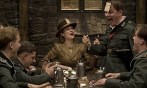 film review inglourious basterds film the guardian a scene from quentin tarantino s inglourious basterds