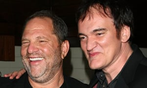 Harvey Weinstein and Quentin Tarantino at a Cinema Society/Hugo Boss preview of Inglourious Basterds