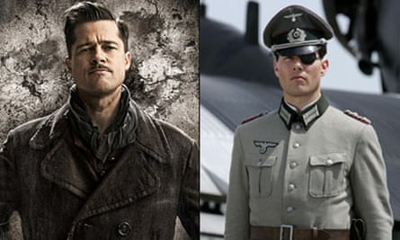 Tom Cruise in Valkyrie and Brad Pitt in Inglourious Basterds