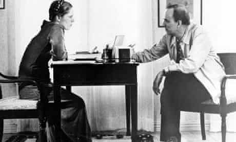 Ingmar Bergman and Liv Ullmann on the set of Autumn Sonata