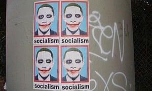 Obama as Joker poster in Los Angeles