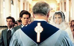 Alec Baldwin, Kevin Bacon and Elizabeth McGovern in John Hughes's She's Having a Baby (1988)