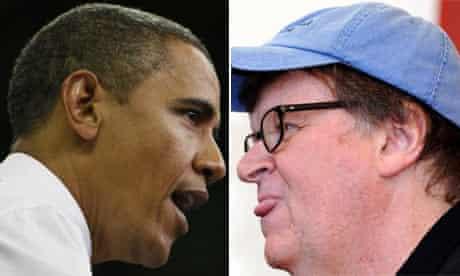 Barack Obama and Michael Moore