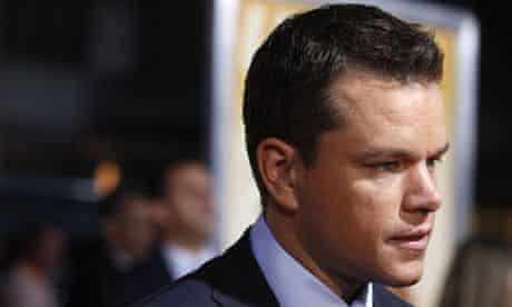 Matt Damon arrives at premiere of The Informant in New York