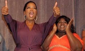 Tyler Perry, Oprah Winfrey, Gabourey Sidibe, Mary J Blige at the Precious premiere in Toronto