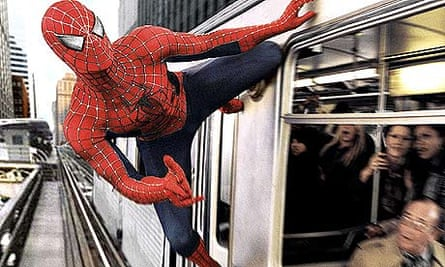 Tobey Maguire in Spider-Man 2, directed by Sam Raimi