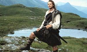 Liam Neeson in Rob Roy