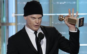 Golden Globes 2010: Michael C Hall accepting his best actor award for Dexter
