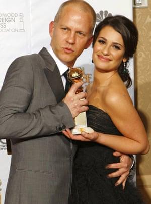 Golden Globes 2010: creator Ryan Murphy and actor Lea Michele