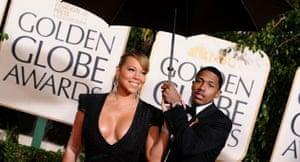 Golden Globes 2010: Mariah Carey, Nick Cannon, a big umbrella