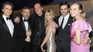 Golden Globes 2010: Quentin Tarantino, Christopher Waltz, Eli Roth, Golden Globes