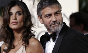 George Clooney, seen here with Elisabetta Canalis, at the 67th annual Golden Globe awards