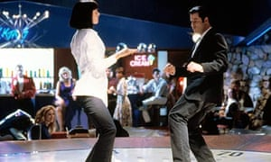 Uma Thurman and John Travolta in Pulp Fiction (1994)