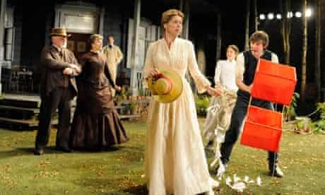 Janie Dee as Natalya and James McArdle as Aleksey in A Month in the Country