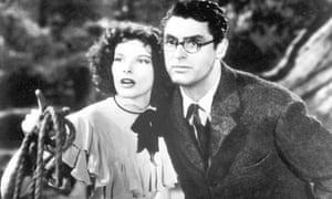 Katharine Hepburn and Cary Grant in Bringing Up Baby