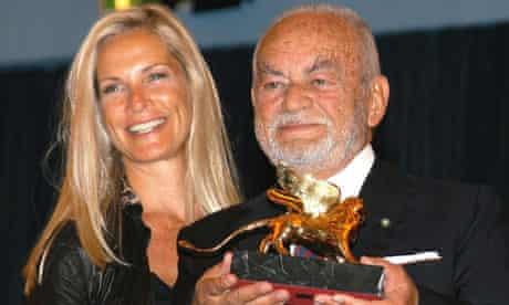 Dino De Laurentiis in 2003 with his wife, Martha