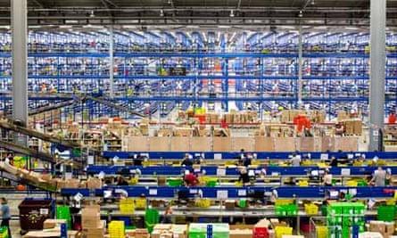 An Amazon fulfillment centre in Milton Keynes