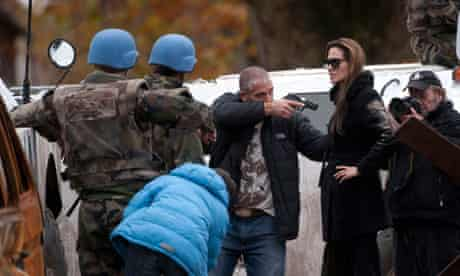 Parting shot ... Angelina Jolie in Bosnia, on the set of her untitled directorial debut.