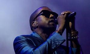 Kanye West performs in Abu Dhabi, 2010
