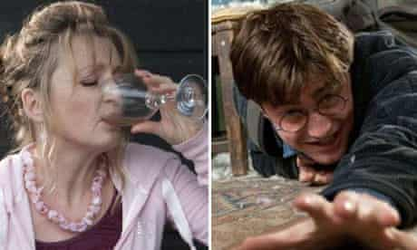 Lesley Manville in Another Year and Daniel Radcliffe in Harry Potter