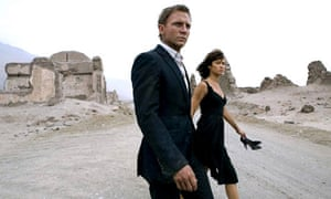 Daniel Craig and Olga Kurylenko in MGM's Quantum of Solace (2008)